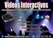 Hologramas en 2d y 3d - videos interactivos imagén corporativa, contactarse.