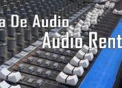 renta de audio para grupos musicales., contactarse.