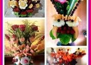 Hermosos ramos de frutas y flores, contactarse.