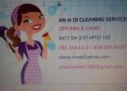 An&di servicio de limpieza, contactarse.