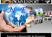 Asesoría en comercio exterior y negocios internacionales: importaciones / exportaciones