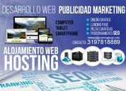 Desarrollo de paginas web y hosting