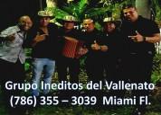 Grupo vallenato en la florida 786 355 3039