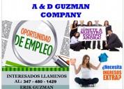 A&d guzman company tiene 10 vacantes para ti!