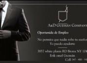 A&d gúzman company busca personal para trabajar!!