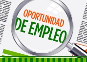 Se solicita personal - contratacion de inmediato