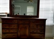 Dressing table with mirror wood ,14 drawers, metal runners - $450 (pace-milton fl)