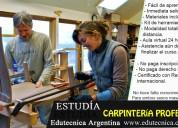 Curso carpintería profesional a distancia