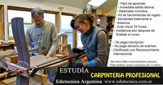 Curso de carpinteria profesional con herramientas