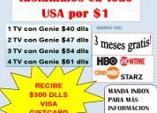 Obten una tarjeta visa con 300 dlls directv