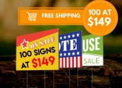 Cheapest yard signs free shipping - phone: (773) 8