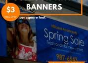 Custom printed outdoor vinyl banners