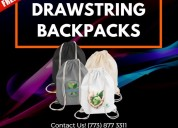 Drawstring backpacks custom