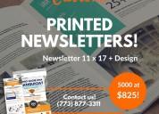 Newsletter printing costs uk  | boxmark