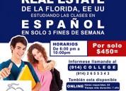 Curso real estate español presencial o virtual