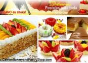 Deliciosos postres y pasteles en carrion bakery