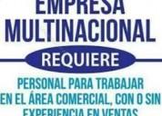 Empresa multinacional requiere personal