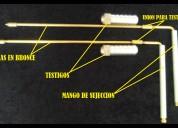 Varillas detectoras de oro