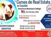Cursos real estate en espaÑol, hollywood, florida