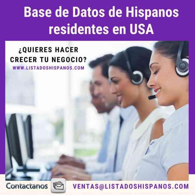 base de datos de hispanos en estados unidos
