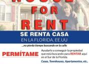 House for rent, casa en renta en usa
