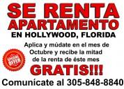 Renta de apartamento en hollywood, florida-oferta