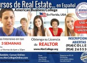 Cursos de real estate en espaÑol, usa