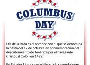 Columbus day!!! dÍa de la raza