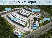 Casas y departamento en residencial privado