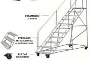 Escaleras tipo avion peru con plataforma lima peru
