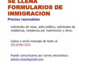 Se llena formularios de inmigración
