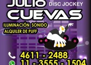 Alquiler de puff, living, disc jockey,dj capital