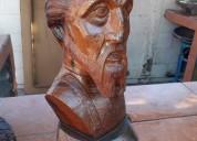 Escultura de don quijote en palo fierro