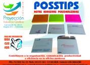 Notas adhesivas posstips corporativa, publicitaria