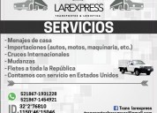 Servicio de mudanzas  de casa hacia mexico