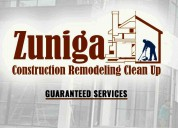 Zuniga construction remodeling clean up