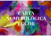 Carta numerológica color