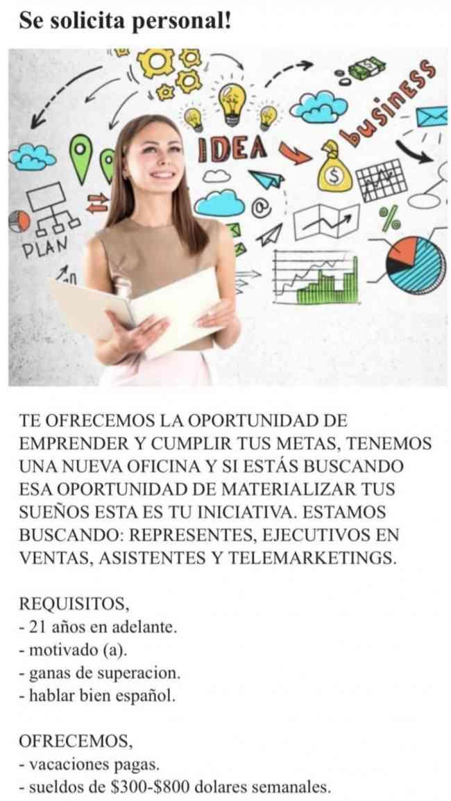 Mejor oportunidad de empleo !!