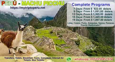Vacations in Machu Picchu Peru