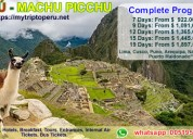 Vacations in machu picchu peru