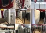 Estufas refrigeradores, lavadoras y secadoras