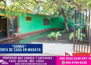 Se vende casa centrica en masaya