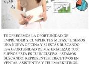Exelente oportunidad de empleo. mejoras personal