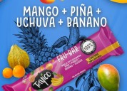 Venta de snacks saludables de frutas tropicales