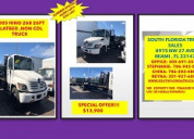 2005 hino 268 26ft flatbed non cdl