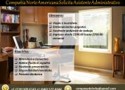 Se solicita asistente administrativo