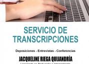 Servicio de transcripción audio a texto