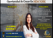Oportunidad de crecer en new york