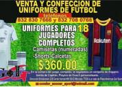 Venta - confección de uniformes de futboll