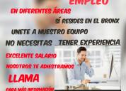 Excelente empresa ofrece empleo